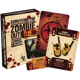 Zombie Outbreak Licensed Playing Cards - Standard Poker Deck - MultiColor