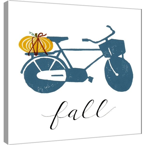 """PTM Images 9-101201 PTM Canvas Collection 12"""" x 12"""" - """"Fall Bikes"""" Giclee Pumpkin Cruiser Art Print on Canvas"""