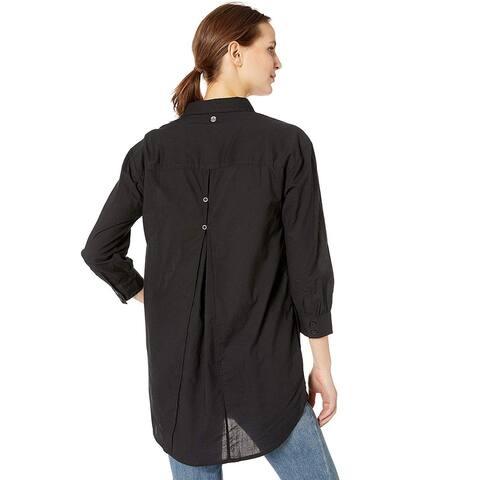 prAna Women's Mauzy Tunic, Black, Large, Black, Size Large