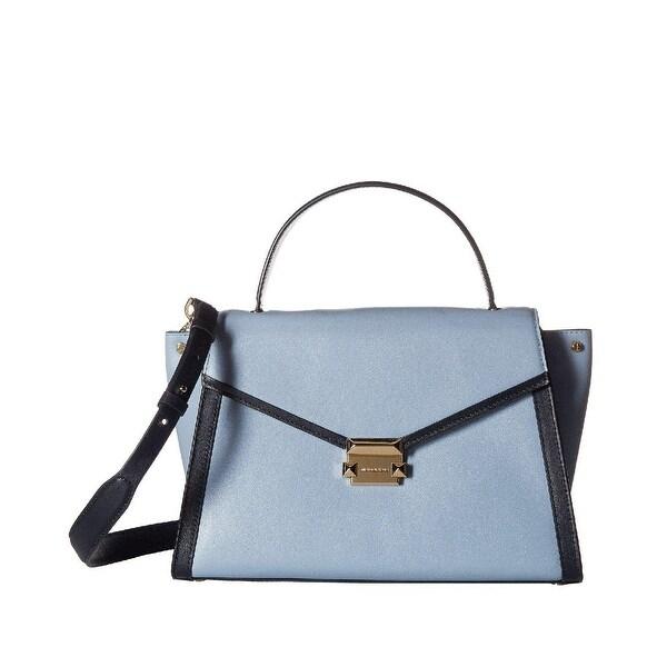 6785c32c6fce Shop MICHAEL Michael Kors Whitney Large Leather Satchel Pale Blue ...