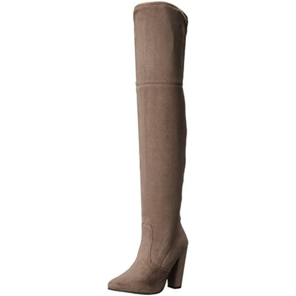 Shop Steve Madden Womens Rocking Thigh High Boots Faux Suede