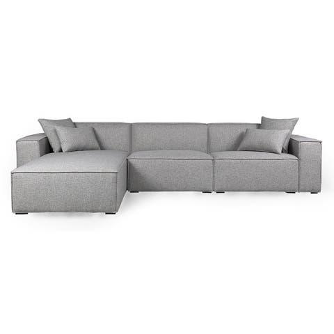 Kardiel MODUS Modern Modular 3-pc Sofa & Chaise Sectional