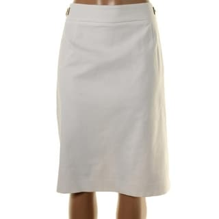 Calvin Klein Womens Plus Faux Trim Knee-Length Pencil Skirt