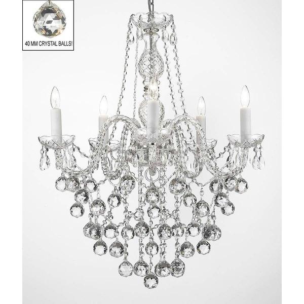 Swarovski Elements Crystal Trimmed Chandelier LightingFaceted Crystal Balls