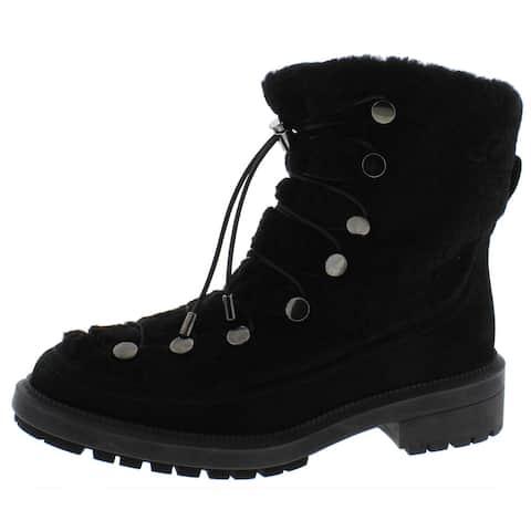 Aquatalia Womens Lorena Winter Boots Cold Weather Pumps - Black