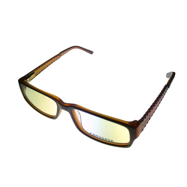 Converse Mens Opthalmic Rectangle Brown Plastic Frame Buil - Medium
