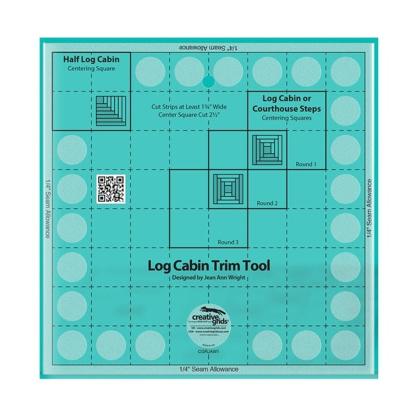 """Creative Grids Pineapple Trim Tool for 6, 8 or 10in Finished Blocks - 0.25"""" x 10"""" x 10"""". Opens flyout."""