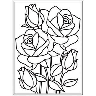 "Embossing Folder 4.25""X5.75""-Mosaic Rose"