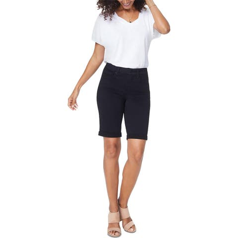 NYDJ Womens Briella Bermuda Shorts Mid-Rise Cuffed