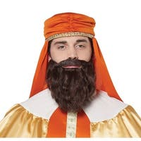 Mens Brown Wise Man Beard and Moustache - standard - one size