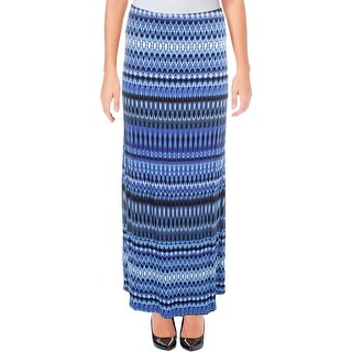 Karen Kane Womens Maxi Skirt Patterned Pull-On - L