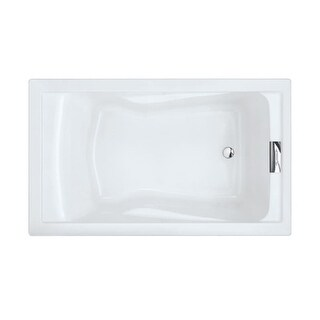 "American Standard 2771.V002 Evolution 60"" Acrylic Soaking Bathtub with Reversible Drain - Lifetime Warranty"