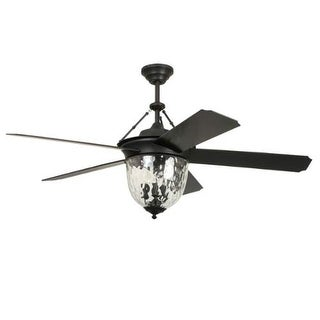 "Ellington Fans CAV52 Cavalier 52"" 5 Blade Hanging Indoor Ceiling Fan with Reversible Motor, Blades, Light Kit, Down Rod and"
