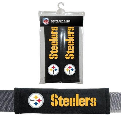 FREMONT DIE Inc Pittsburgh Steelers Seat Belt Pad 2 Pack Seat Belt Pad 2 Pack
