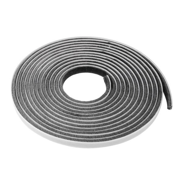 Furniture Door Seal Strip Weather Stripping for Window Gray 16.4 Ft(3/8 Inch Width x 3/16 Inch Thick)