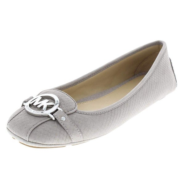 3a2f58a13178 Shop MICHAEL Michael Kors Women s Fulton Moccasin Embossed Leather  Mink Beige - Free Shipping Today - Overstock - 24088525