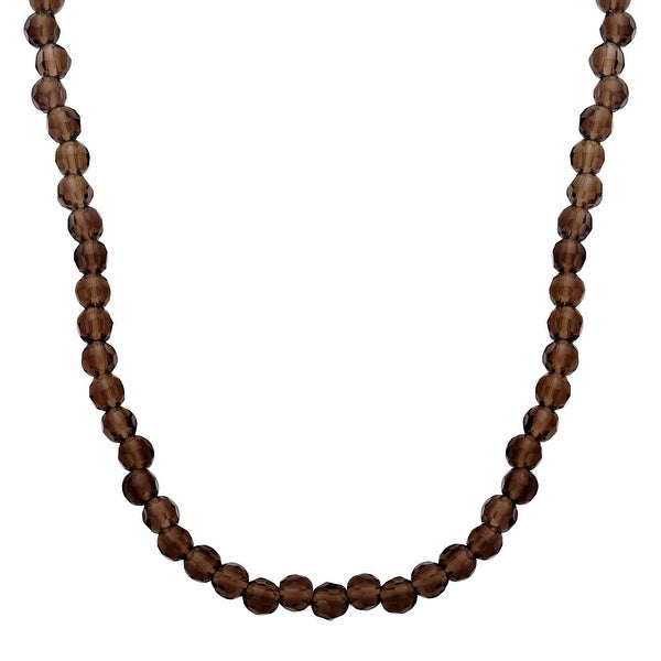 100 ct smoky Quartz Necklace in Sterling Silver