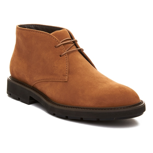 Tod's Men's Suede Chukka Desert Boots Shoes Brown