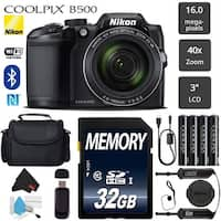 Nikon COOLPIX B500 Digital Camera (Black) 16MP 40x Optical Zoom with Built-in NFC - (Intl Model)