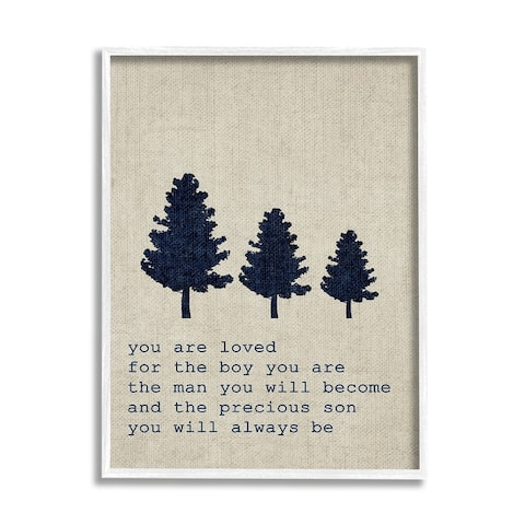 'You are Loved Son Trees' Framed Giclee Texturized Art