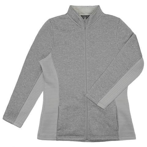 Victory Outfitters Ladies' Fleece Lined Zip Up Heathered Fleece Jacket