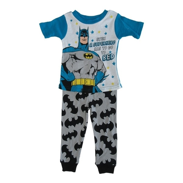 6cb9fc13f284 Shop DC Comics Little Toddler Boys Blue Batman Cotton Short Sleeve 2 ...