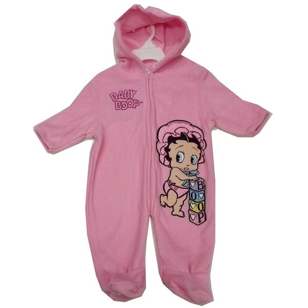 03328f8eb3c2 Shop Nickelodeon Baby Girls Pink Baby Boop Hooded Zipper Coverall 3 ...