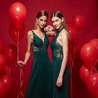 Ever-Pretty Women's  Elegant V-neck Lace A-line Floor-Length Evening Dresses 07190