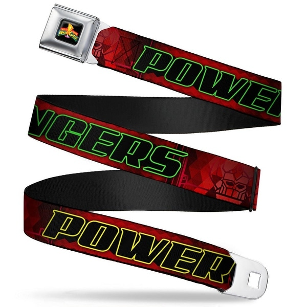 Power Rangers Logo Full Color Power Rangers Megazord Head Red Green Yellow Seatbelt Belt