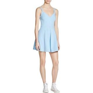 Likely Womens Delancey Skater Dress Pleated Sleeveless