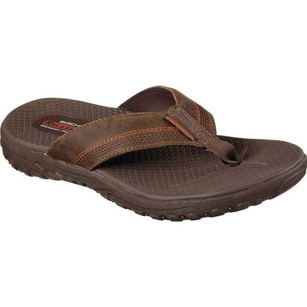 d7220a1f0d4b Shop Skechers Men s Relaxed Fit Reggae Cobano Thong Sandal Brown ...