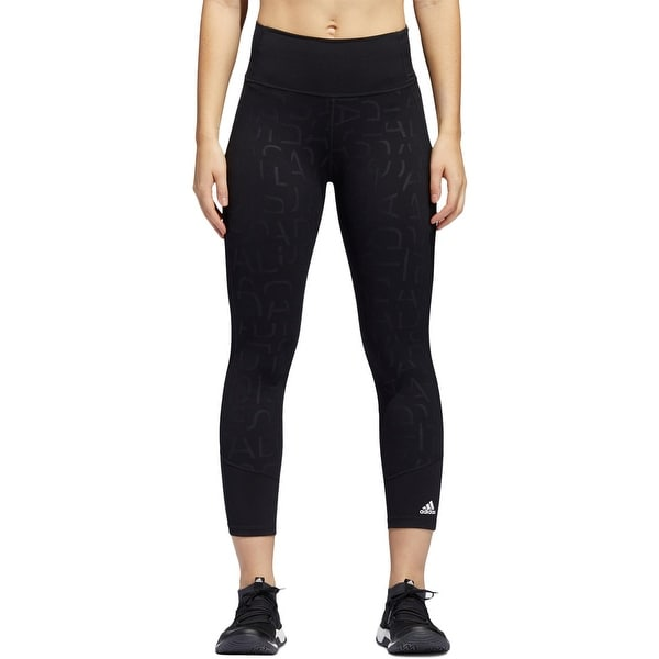 5984deaec9f448 Shop Adidas Womens Athletic Leggings High Rise Mesh Trimmed - Free ...