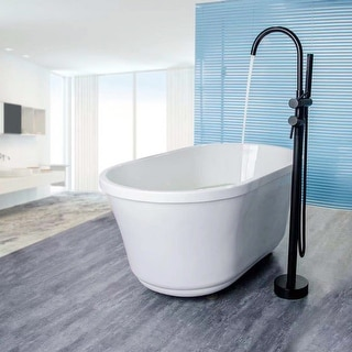 Link to Double Handle Floor Mounted Freestanding Tub Filler Trim Similar Items in Faucets