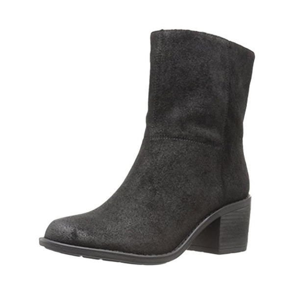 Easy Spirit Womens Ilsa Booties Suede Block Heel