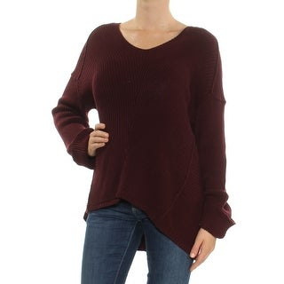 VINCE CAMUTO Womens Burgundy Long Sleeve V Neck Sweater  Size: M