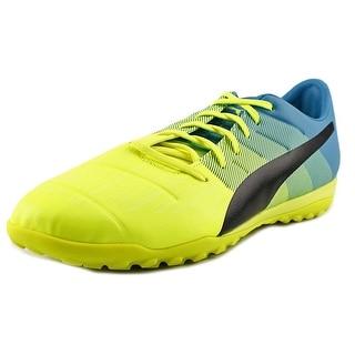Puma Evo Power 3.3 TT Men Round Toe Synthetic Yellow Cleats