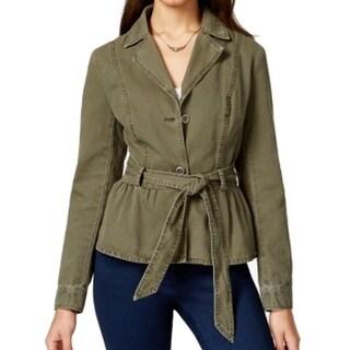 American Rag NEW Dark Olive Green Women's Size Medium M Belted Jacket