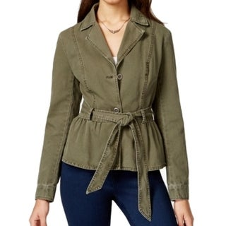 American Rag NEW Dark Olive Green Women's Size Small S Belted Jacket