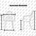 2xhome - Set of 2, Grey Modern Organic Chairs With Arm Armchairs Solid Wood Natural Legs Dining Chairs Living Room Restaurant - Thumbnail 1