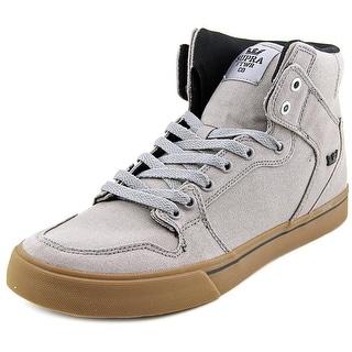 Supra Vaider Men Round Toe Canvas Gray Skate Shoe