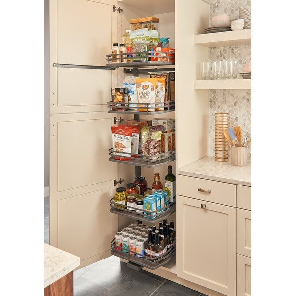 Rev A Shelf 5374 24fl Series 23 By 75 Tall Two Tier Pull Out Pantry Cabinet Organizer With 5 Adjule Shelves Free Shipping Today
