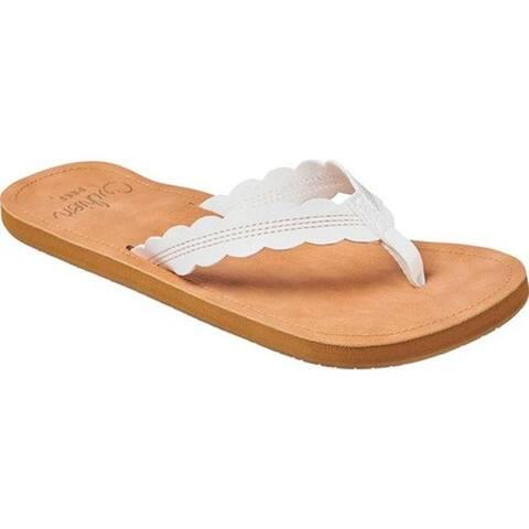 Reef Women's Cushion Celine Vegan Flip Flop Cloud Vegan Leather