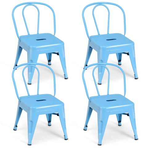 Set of 4 Kids Lightweight Stool Metal Chairs