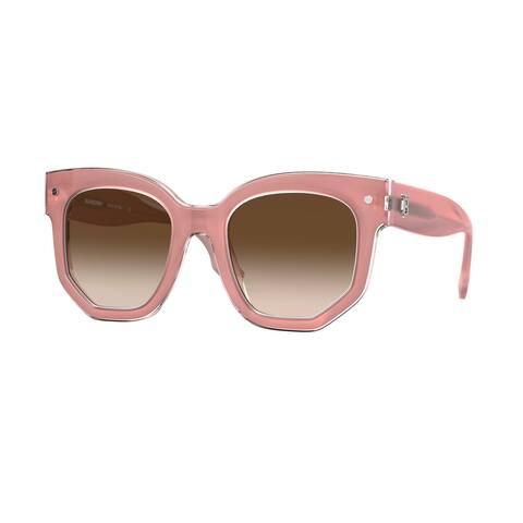 Burberry BE4307F 384713 50 Top Opal Pink On Pink Woman Irregular Sunglasses