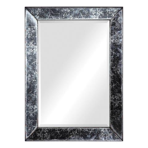 """Uttermost 09533 Isla 44"""" x 32"""" Rectangular Beveled Glass Framed Full Length Mirror - Antique"""