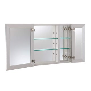 """Foremost MMC3026 26"""" x 4-7/16"""" Frameless Double Door Medicine Cabinet with Rever"""