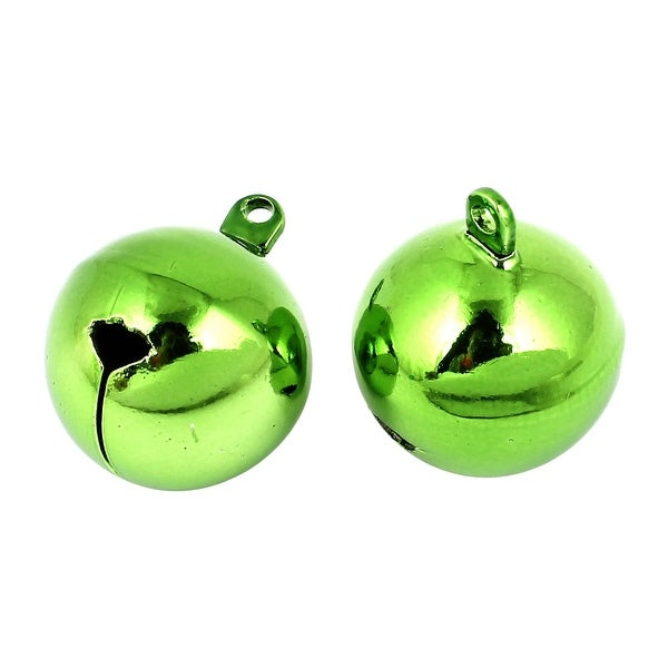 Unique Bargains 2 Pcs Metal 25mm Dia Christmas Tree Party Ring Bell Decoration Green