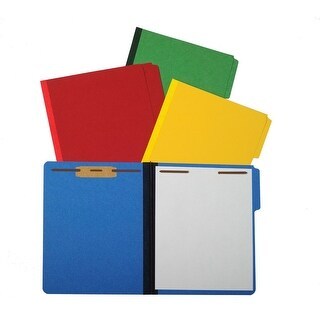 NECI Pressboard Fastener Folder, Letter, Ruby Red, Box of 20