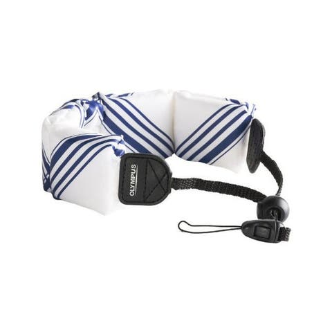 Olympus Fashion Float Strap for Camera (White with Blue)