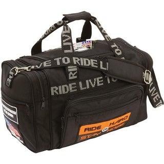 Diamond Plate Heavy-Duty 1680d  Live To Ride® Duffle Bag
